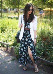 Платье-халат в сочетание с жакетом