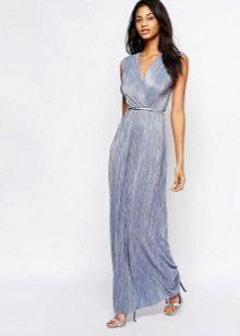 Длинное платье-халат с псевдозапахом