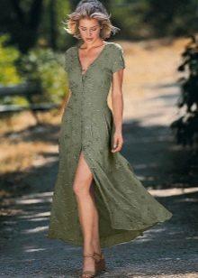 Платье-халат из парчи