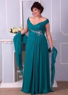 Платье из джерси для полных в пол