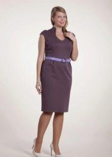 Платье из джерси для полных короткое