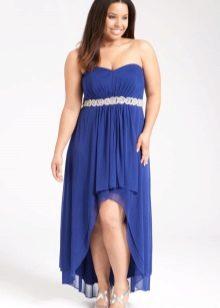 Платье из джерси для полных хай-лоу