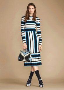 Платье из джерси полосатое