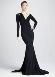 Платье из джерси русалка