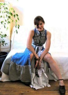 Готовое платье в стиле бохо из рубашек