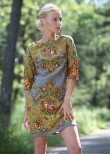 Платье из платков короткое