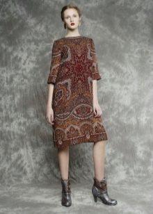 Платье из павлопосадских платков миди