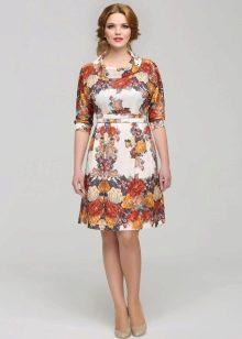 Платье из павлопосадских платков для полных