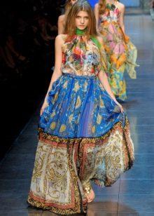 Платье из платков дизайнерское