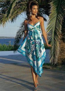 Платье из павлопосадских платков своими руками