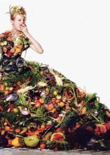 Платье из фруктов  и овощей