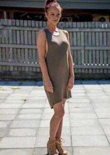 Платье-майка свободного кроя для женщин с выпирающим животиком