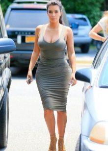 Трикотажное платье-майка длины миди