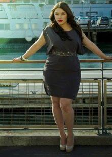Платье с завышенной талией на корпоратив для полных