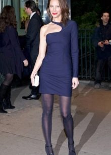Платье с асимметричным верхом (с одним рукавом) на корпоратив