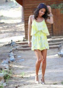 Летнее платье с юбкой солнце