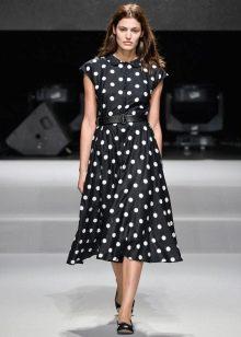 Платье с юбкой солнце для женщин с прямоугольной фигурой