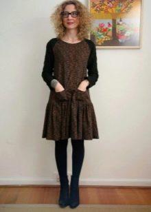 Платье с заниженной талией с пышной юбкой