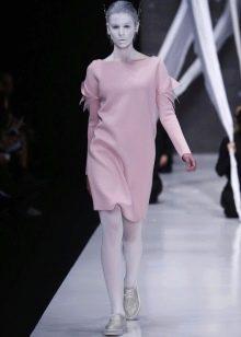 Шерстяное платье с вискозой короткое