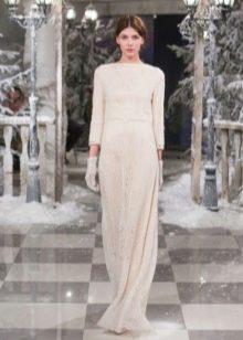 кашемировое платье в пол