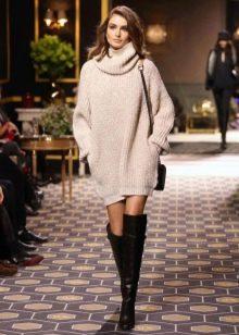 кашемировое платье-свитер