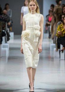 Шерстяное платье вязаное платье белое