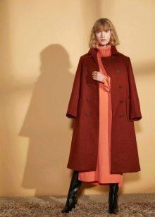 Шерстяное платье теплое миди