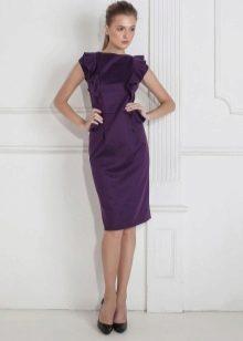 Шерстяное платье прямое с рукавами