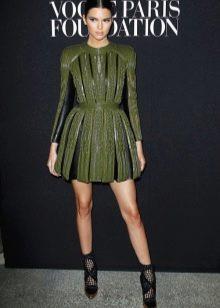 ПВечернее короткое платье в стиле милитари