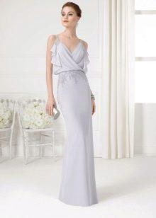 Платье из крепдешина вечернее