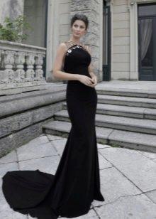 Платье из крепдешина вечернее русалка