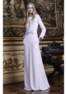 Платье из крепдешина вечернее с рукавами