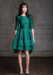 Платье из крепдешина зеленое