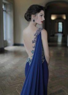 Платье с открытой спиной в греческом стиле