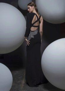 Платье с открытой спиной вечернее на бретелях