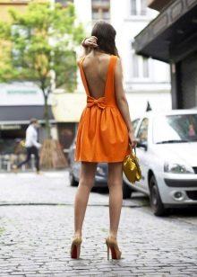 Платье в пол летнее оранжевое