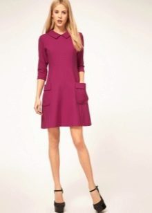 Розовое платье в стиле 60-х