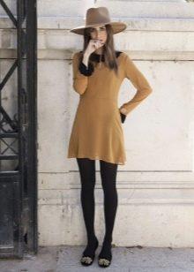 Балетки с круглым носом к платью в стиле 60-х