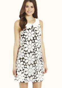 Платье в стиле 60-х с цветочным принтом