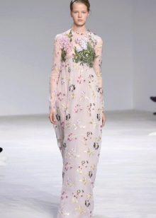 Платье в стиле ампир с длинным рукавом