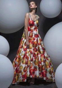 Платье в стиле ампир пышно цветное