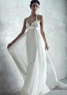 Платье в стиле ампир на бретелях