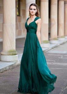 Платье в стиле ампир зеленое