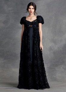 Платье в стиле ампир вечернее черное