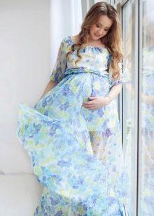 Платье в стиле ампир для беременных шифоновое