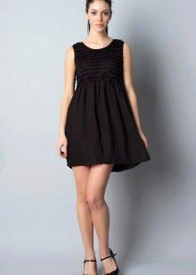 Платье в стиле ампир а-силуэта короткое