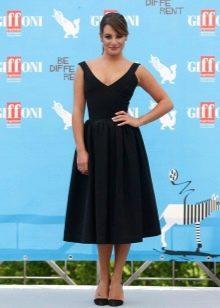 Платье  в стиле ретро черное а-силуэта