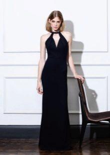 Платье  в стиле ретро черное с американской проймой