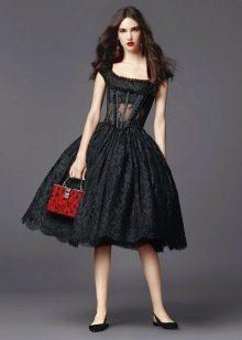 Платье пышное в стиле ретро вечернее