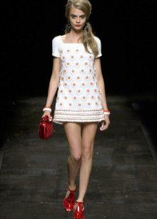 Платье  в стиле ретро кружевное трапеция